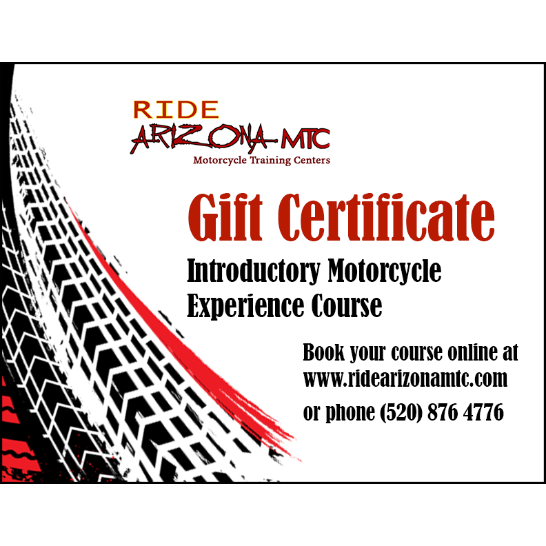Ride Arizona Motorcycle Training Centers Gift Certificates page banner